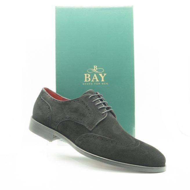 Brogue ante negro, impermeables, hidrofugados y termosellados. Zapatos BAY, modelo 20067.