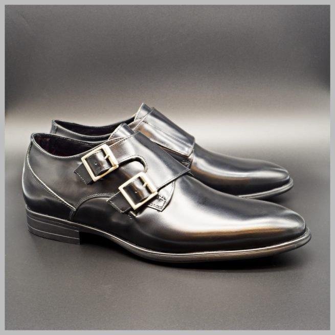 Hebilla doble. Zapatos BAY Mallorca.