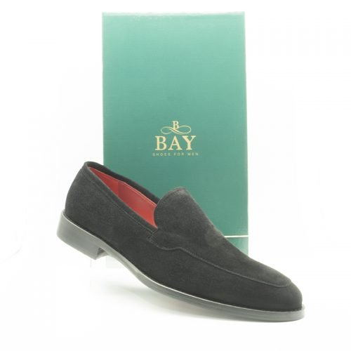 Manoletina acaba de ante, impermeable, hidrofugado y termosellado. Zapatos BAY, modelo 20069.