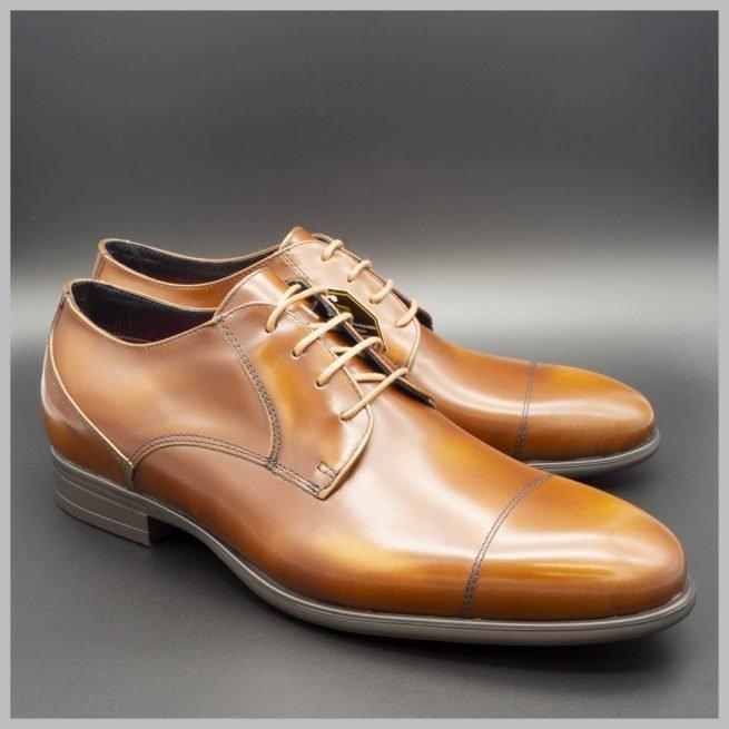 Zapatos impermeables waterproof derby marrón par