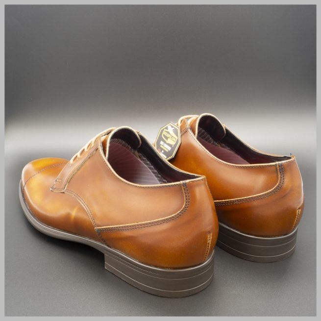 Zapatos impermeables waterproof derby marrón talones