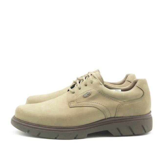 Zapatos Bay, casual con cordones hidrofugado modelo C510, color khaki-gris 6.